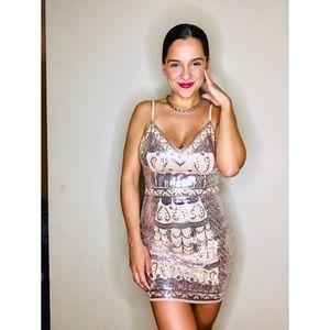 Ivory Sequins Dress